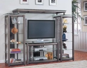 Glass Metal Tv Stand Ideas On Foter