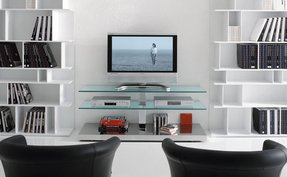 Glass metal tv stand 2