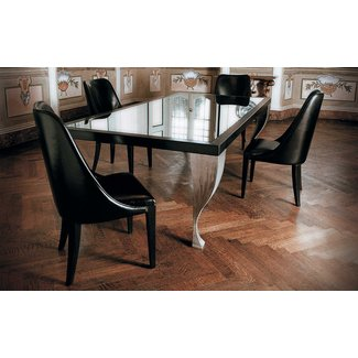 Glass top dining tables with wood base 8