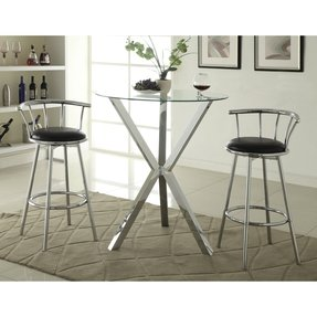 Glass top round kitchen table sets foter glass top round kitchen table sets workwithnaturefo