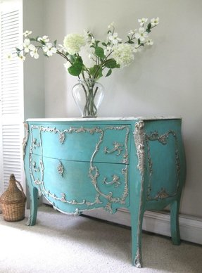 Hand painted french provincial louis xv