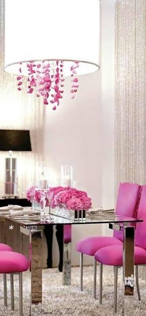 Hot pink accent chair