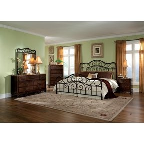 Wood And Wrought Iron Bedroom Sets - Foter