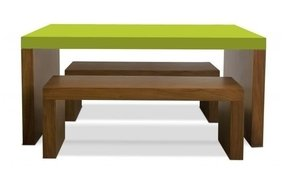 Kids table and bench set