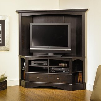 L shaped entertainment center