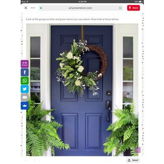 Large Front Door Wreaths 1