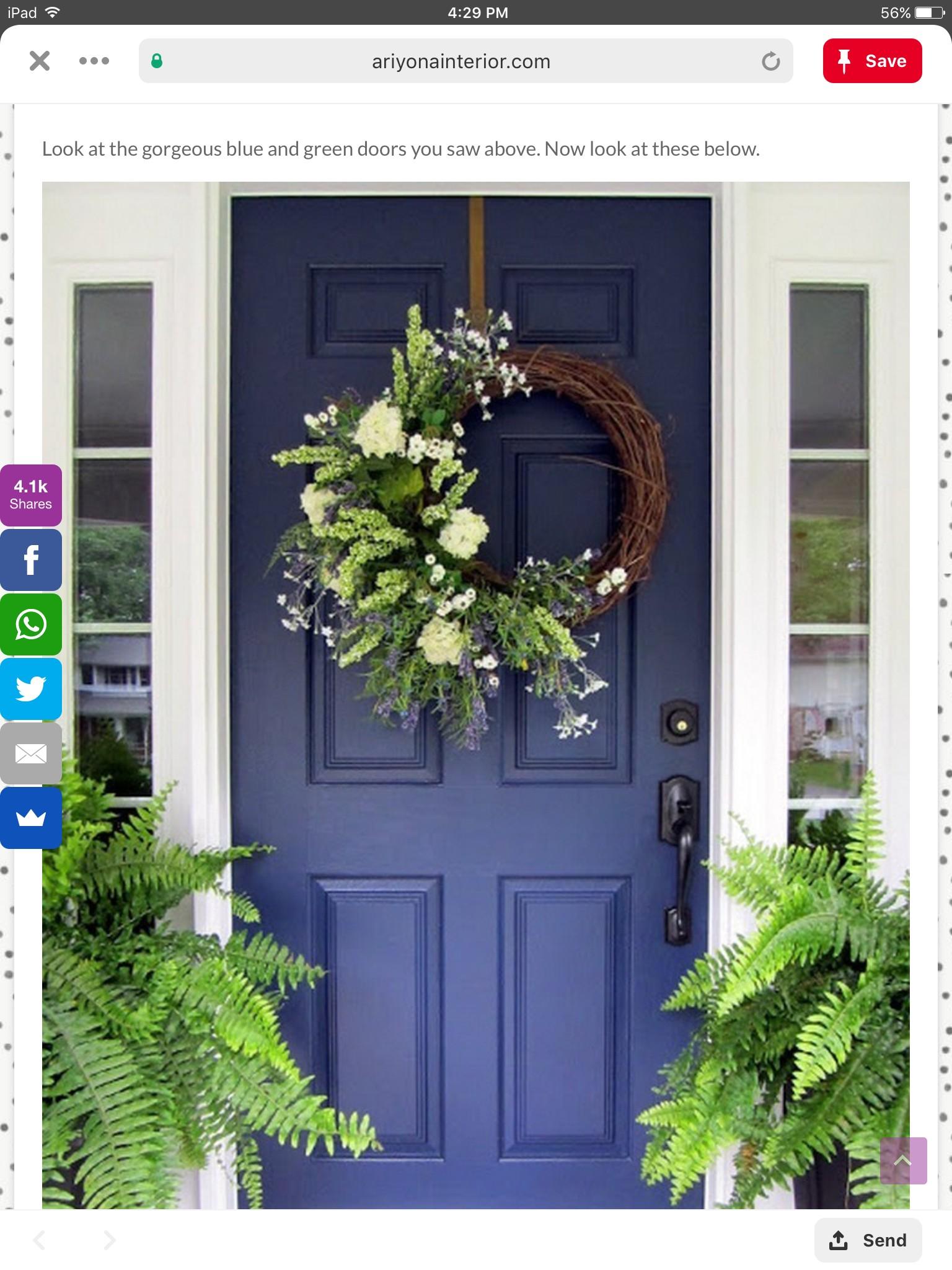 Large Front Door Wreaths 1