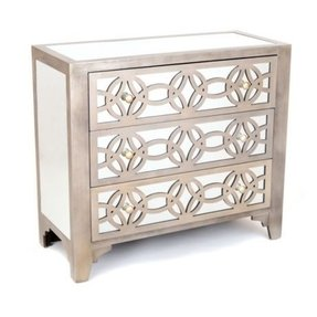 Large silver chest of drawers