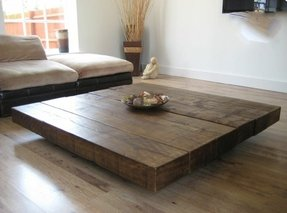 Large square coffee table 18