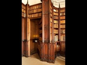 Library bookcase with doors 8