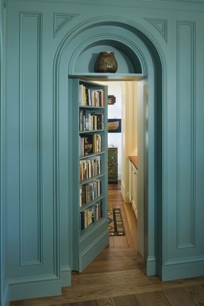 Library bookcase with doors