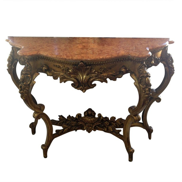 Marvelous Marble Top Console Table