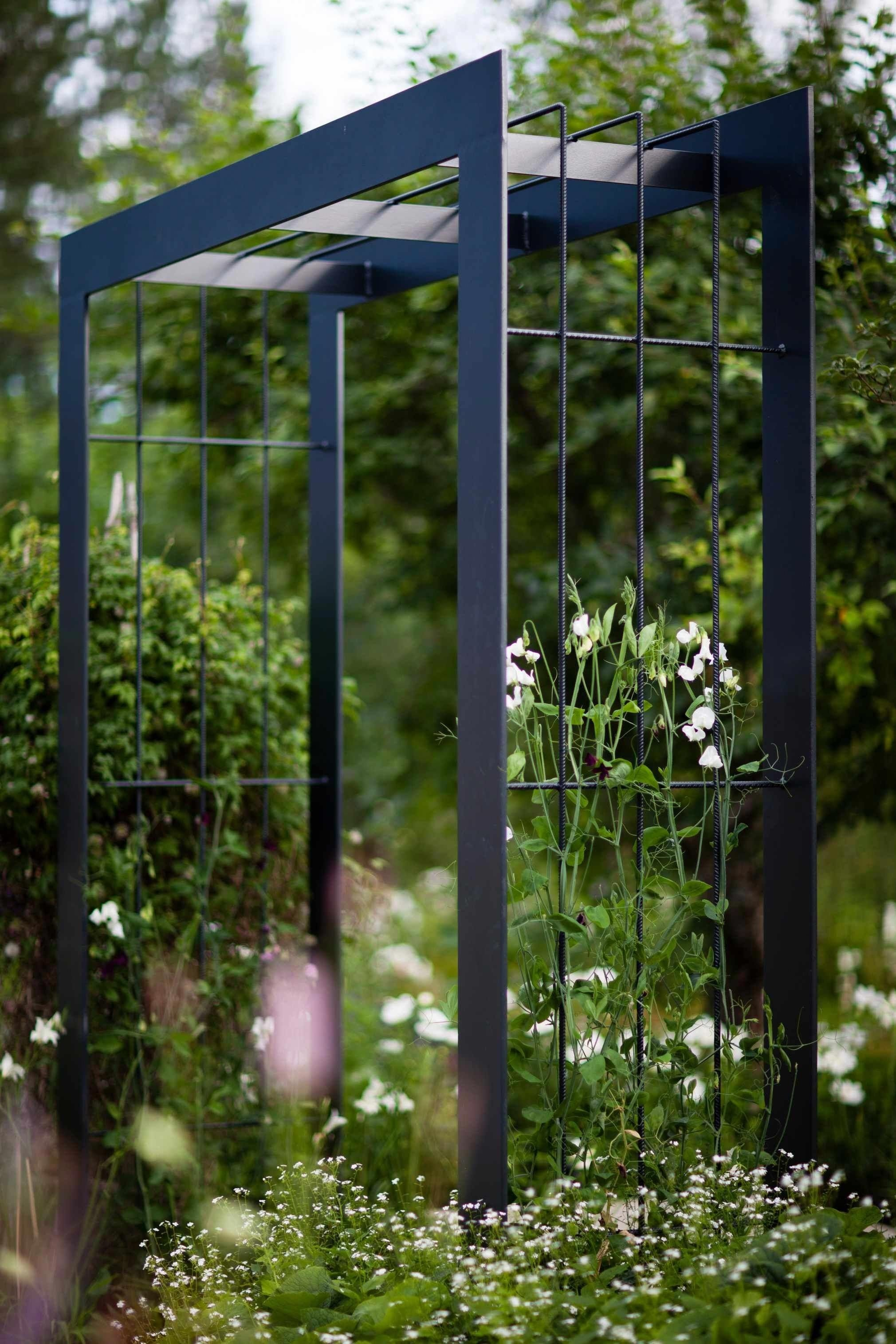 Metal Plant Arch Garden Steel Tube Archway Climbing Plants Climber Frame