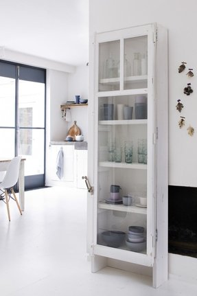 Narrow cabinets with doors 1