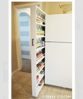 Narrow cabinets with doors 5