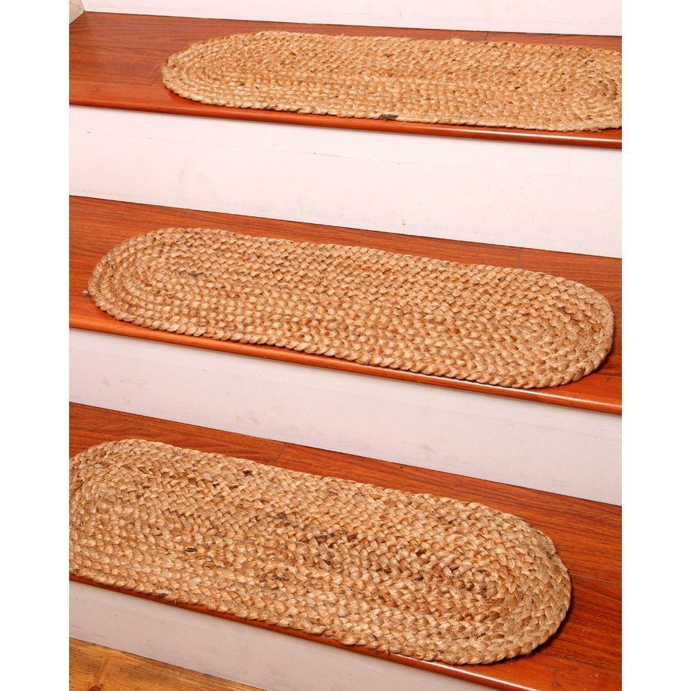 NaturalAreaRugs Cameron Jute Carpet Stair Treads, ...