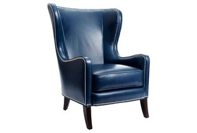 Navy blue leather chair
