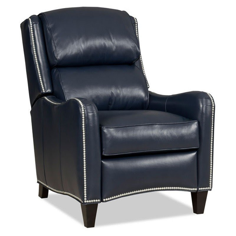 Bon Navy Blue Leather Recliner