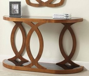 Oval console table 26