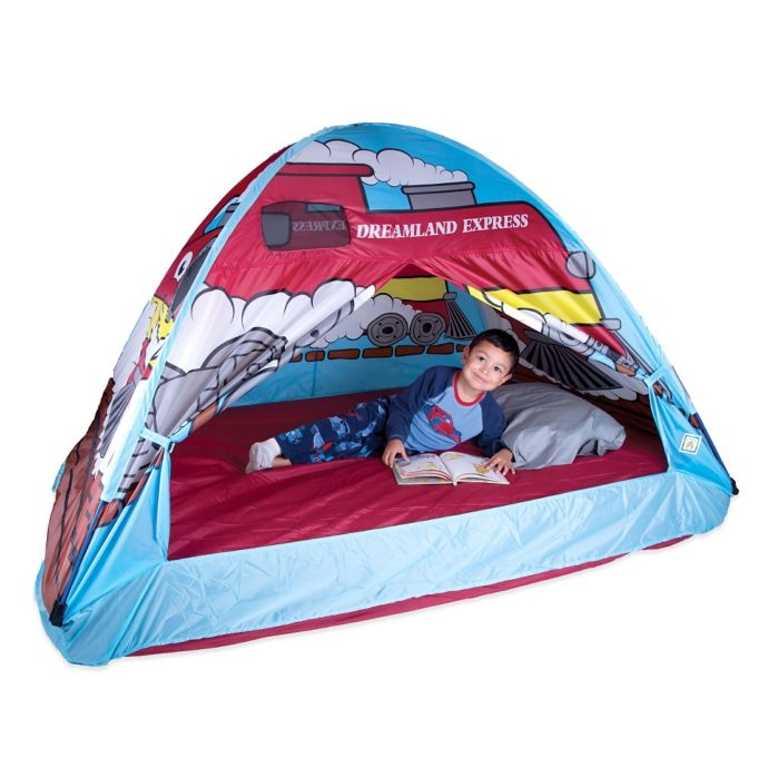 Pacific Play Tents Dream Land Express Train Twin Bed Tent Fits over a full size mattress  sc 1 st  Foter : full size bed tent for girl - memphite.com