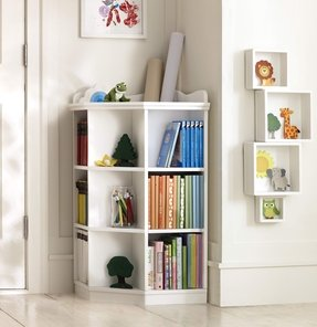 Pottery barn kids corner bookcase