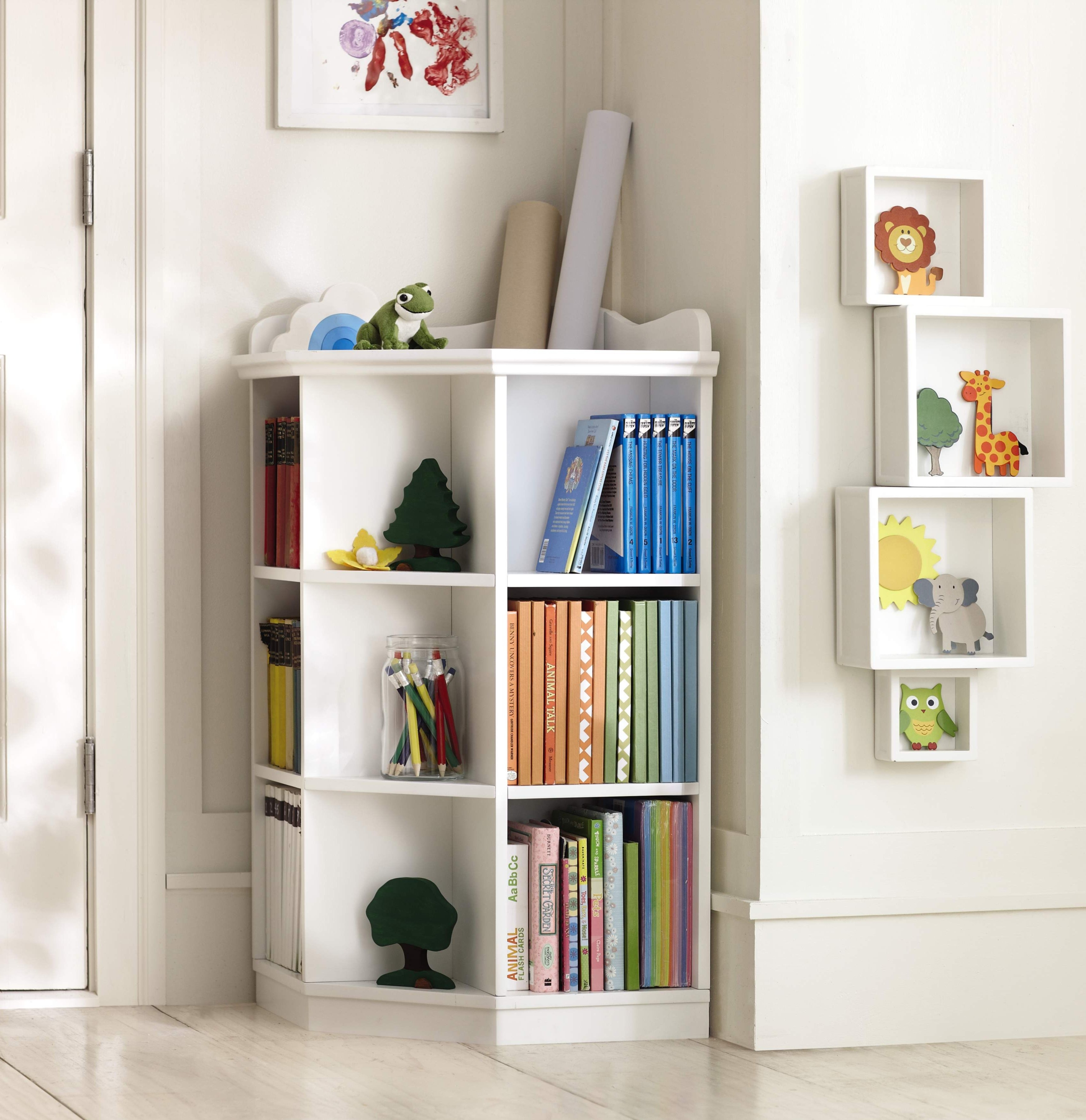 Superieur Pottery Barn Kids Corner Bookcase