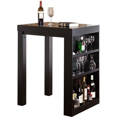 Pub tables with storage foter pub table with wine rack watchthetrailerfo Coaster bar ...  sc 1 st  Makeup Vanity Table Ideas & Bar Table With Shelves Image collections - Table Decoration Ideas