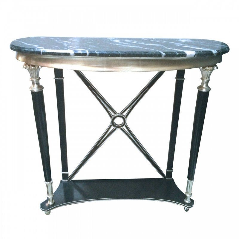 Regency style console table marble top