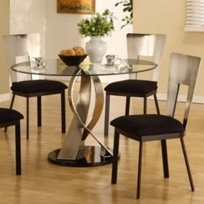 Round Glass Kitchen Table Sets