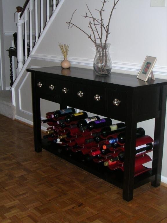sofa table with wine rack foter rh foter com Wine Rack Table with Storage Wine Rack Table with Storage