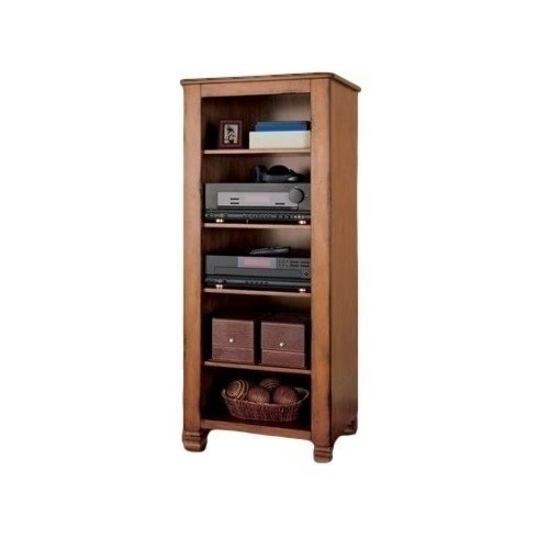 Summit Mountain Wood Audio Cabinet With Adjustable Shelves For Media,  Components And Storage