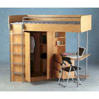 Top Bunk Bed With Desk Underneath 1