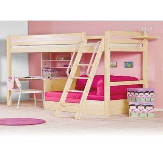 Top bunk bed with desk underneath 2