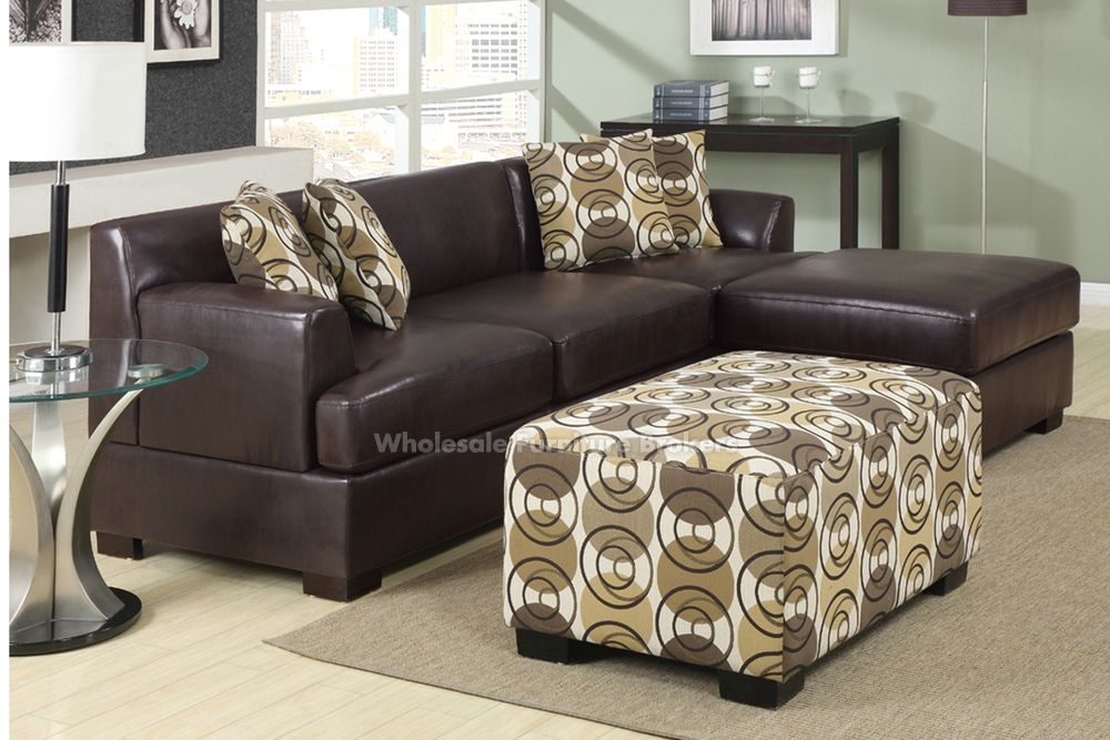 Trinidad Dark Chocolate Small Leather Sectional Sofa By Urban Cali