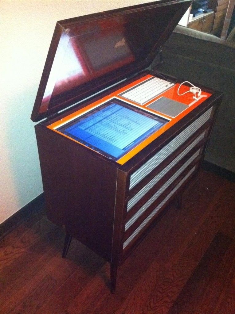 Incroyable Vintage Stereo Cabinet