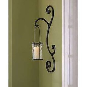 Wrought Iron Hanging Candle Holders - Foter on Wrought Iron Outdoor Candle Sconces id=95405