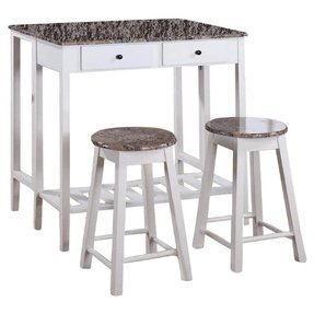White stool table