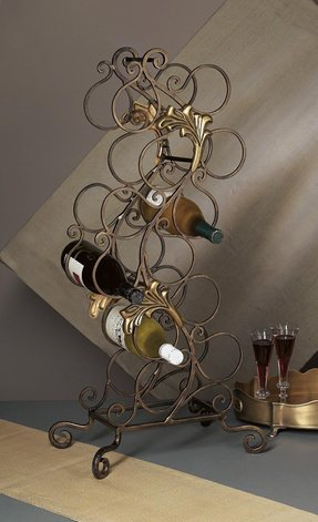 "Wine Rack - ""Bellagio"" Wine Rack - 12 Bottle Metal Wine Rack - Floor Standing Wine Rack - Wine Stand"