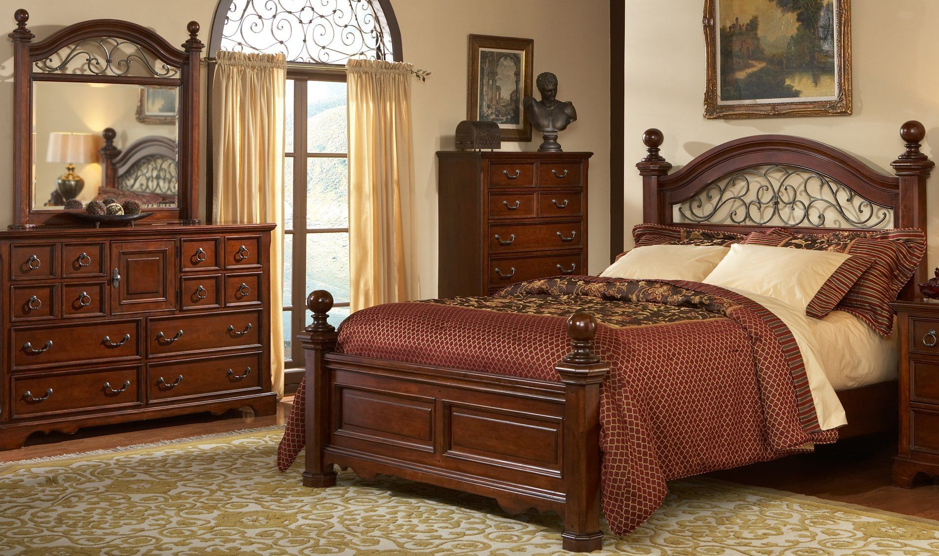 Gentil Wood And Wrought Iron Headboards
