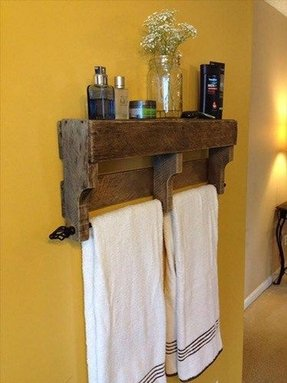 Wood bathroom towel racks