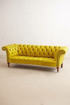 Yellow tufted sofa 2