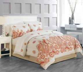 8-Piece Global Paisley Bed-In-Bag Set