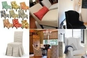 Accent chair slipcovers