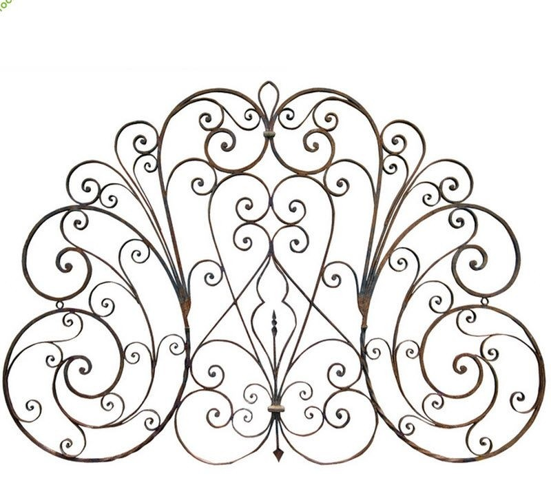 Antique wrought iron headboard eclectic headboards
