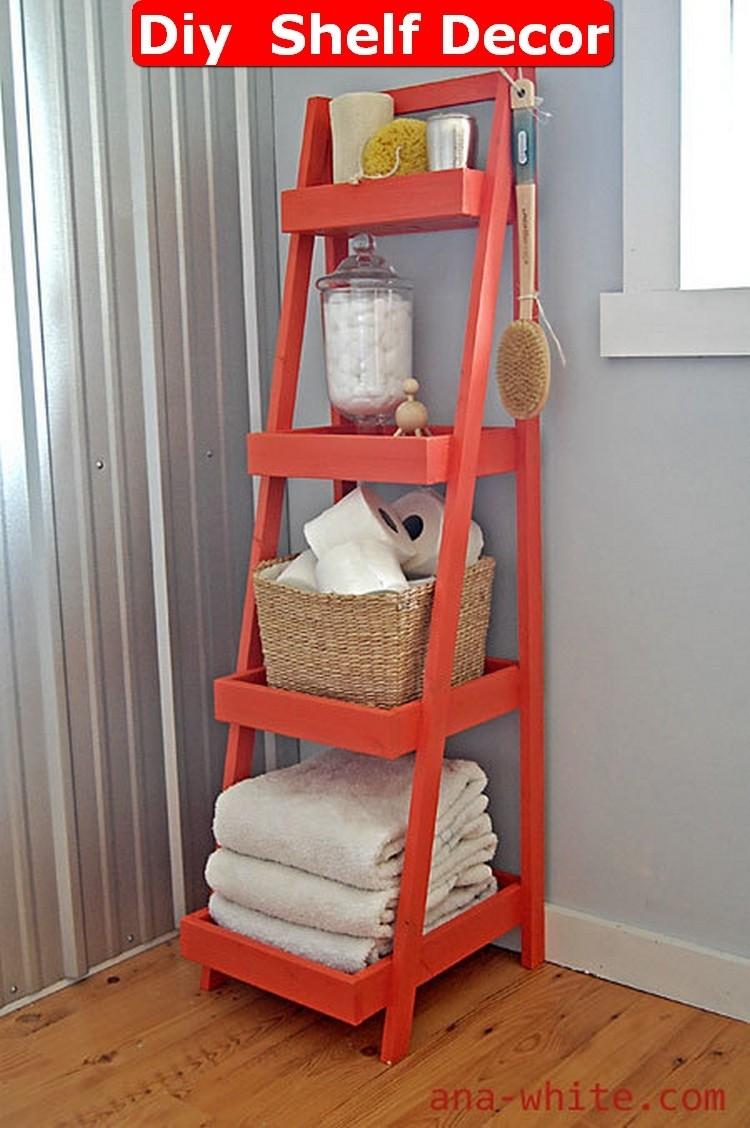 Perfect Bathroom Free Standing Shelves 1