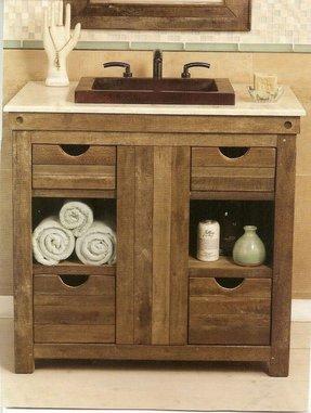 Rustic bath vanity foter - Rustic vanity cabinets for bathrooms ...