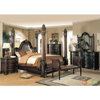 Black 4 poster king size bed