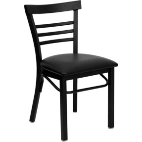 Black ladder back dining chairs 13
