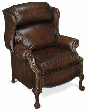 Bradington young living room ball and claw reclining wing chair