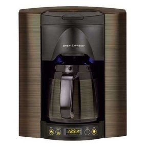 Bronze coffee maker 2